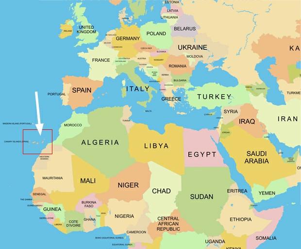 канары на карте